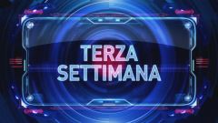 Settimana 3 - prima parte, Italia 1
