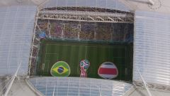 Mondiali, Brasile-Costa Rica: partita intera