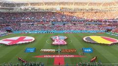 Mondiali, Inghilterra-Belgio: partita intera