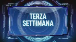 Terza settimana, Italia 1 - Prima parte