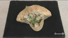 Cestini con bocconcini di pollo, asparagi e taleggio thumbnail