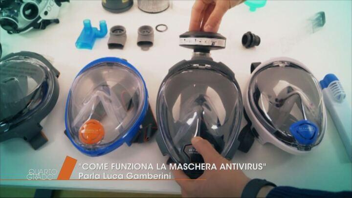 maschera virus protegge