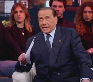 Silvio Berlusconi ospite a Quarta Repubblica